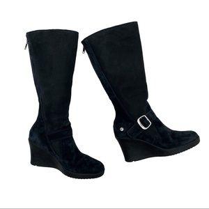 UGG Suede Celine Knee High Heeled Boots Size 5